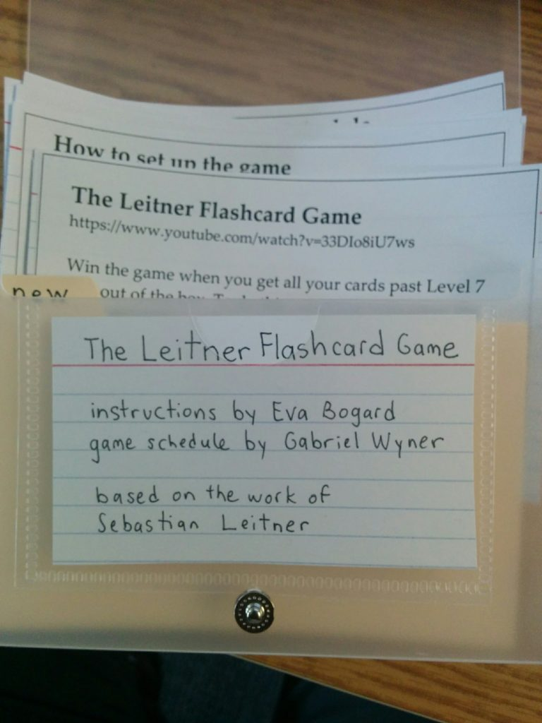 Leitner Flashcard Game